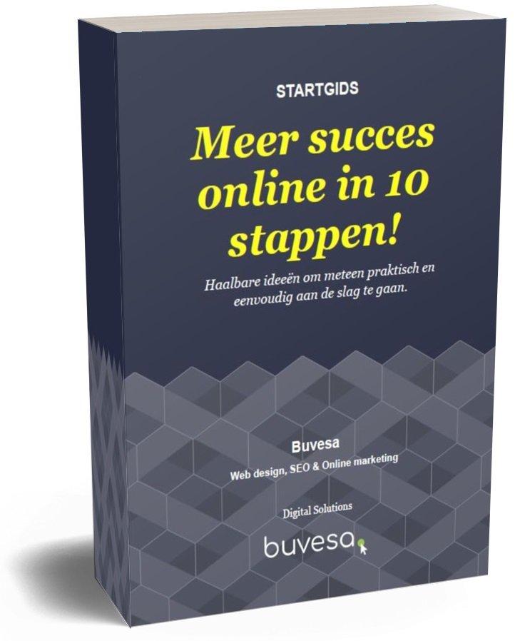 Download de gratis startgids 'Meer succes online in 10 stappen!'