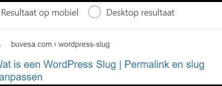 Wat is een WordPress Slug | Permalink en slug aanpassen
