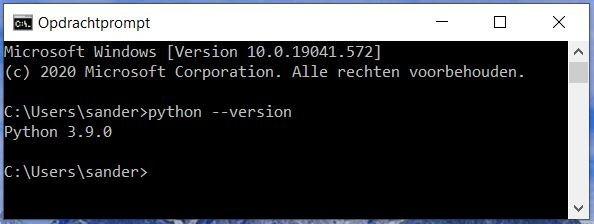 python windows 10 opdrachtprompt
